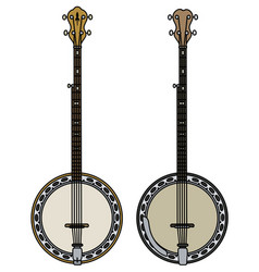 two classic banjo vector image