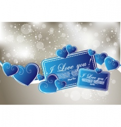 abstract greeting card with hearts vector image