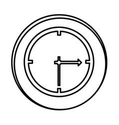 silhouette symbol clock icon vector image