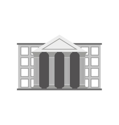 bank building isolated icon vector image