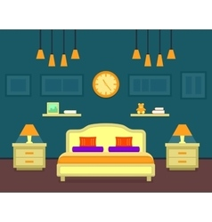 bedroom cozy interior vector image vector image