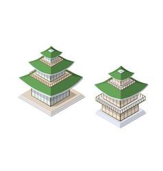 chinese pagoda building vector image