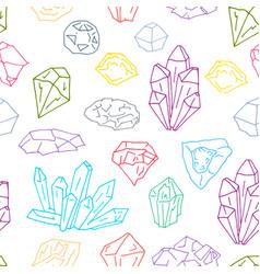 gems pattern 1 vector image