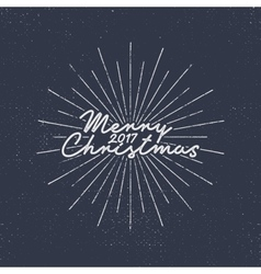 Merry Christmas 2017 lettering Holiday typography vector image vector image