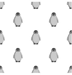 penguinanimals single icon in monochrome style vector image vector image