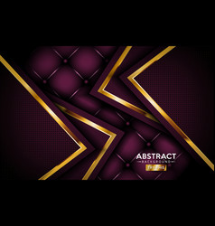 abstract luxurious dark purple with golden lines vector image