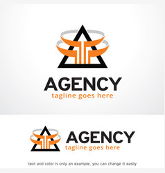 Agency logo template design vector