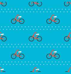 Bicycle seamless pattern for use as wrapping vector