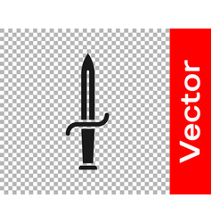 Black dagger icon isolated on transparent vector