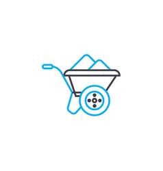 Building trolley thin line stroke icon vector
