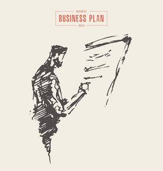 business man project planning new plan vector image
