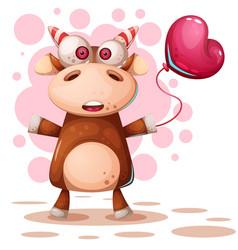 cartoon funny deer - cow characters vector image