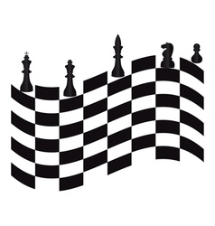 chessmen vector image