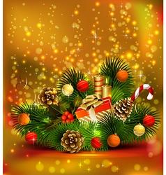 Christmas still life vector image