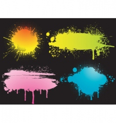 color blots vector image vector image