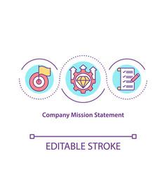 Company mission statement concept icon vector