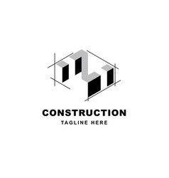 Construction logo design with letter z shape icon vector