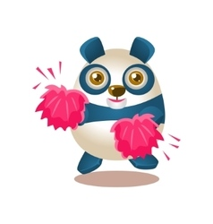 Cute panda activity with humanized vector