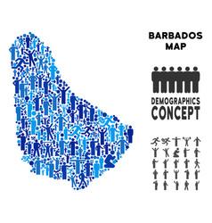 Demographics barbados map vector