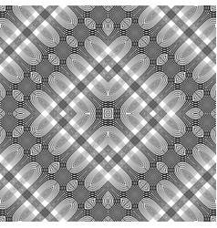 Design seamless monochrome lacy pattern vector