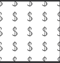 Dollar sign icon brush lettering seamless pattern vector