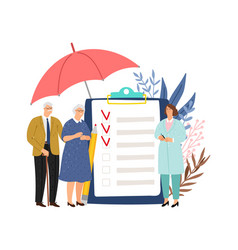 elderly health insurance vector image