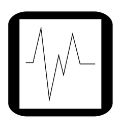 Electrocardiogram monitor icon vector