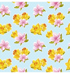 Elegant stylish spring floral seamless pattern vector image