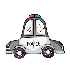 Emergency police car transport with siren vector