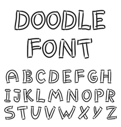 English alphabet in doodle style vector image