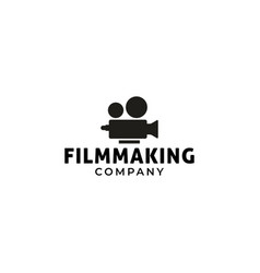 film logo design template isolated vector image