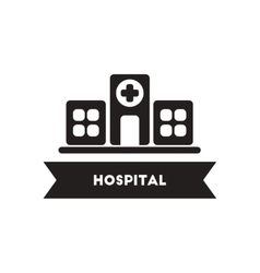 Flat icon in black and white style building vector