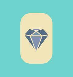 Flat icon on stylish background poker diamond vector