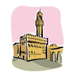 Florence Piazza della Signoria vector image