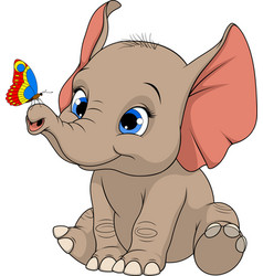Funny kid elephant vector