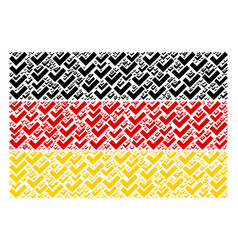 germany flag collage of yes items vector image