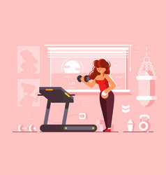 girl doing sport gym vector image