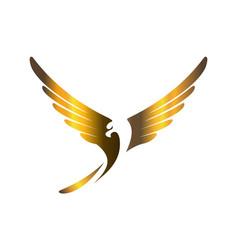 gold eagle logo icon concept vector image