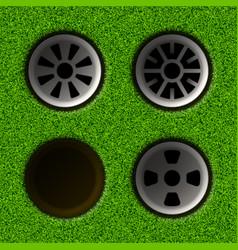 Golf hole vector