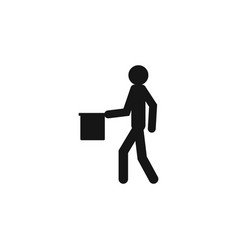 Guide icon from man poses set style monochrome vector