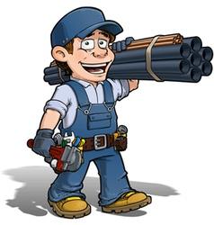 Handyman Plumber Blue vector