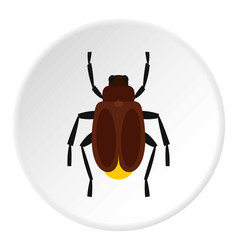 Harvest bug icon circle vector