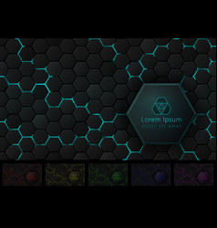Hexagonal background with pace for your logo and vector