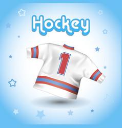 Hockey t-shirt vector