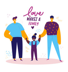 Homosexual male lgbt family vector