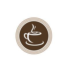 hot coffee logo vector image