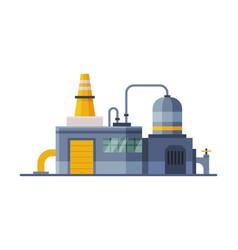 Industrial building waste processing plant vector