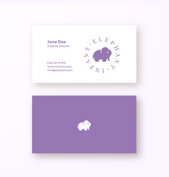 Infant elephant abstract feminine sign or vector