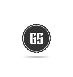 initial letter gs logo template design vector image