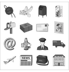 Library and bookstore set icons in monochrome vector